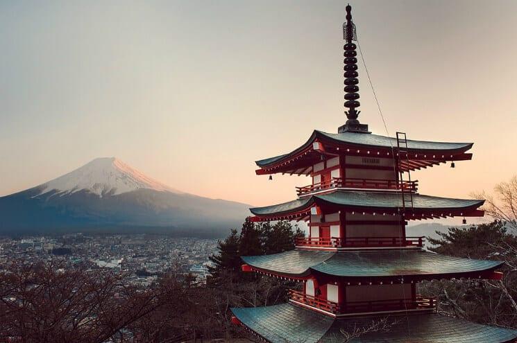 Mount Fuji and Pagoda