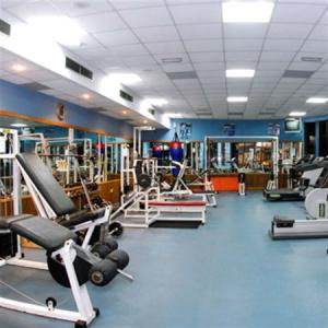 På gymmet