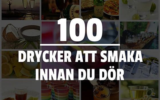 100 drycker att smaka innan du dör