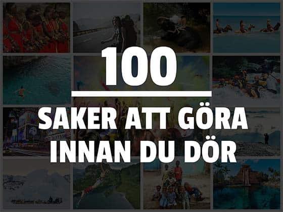 100 saker att göra innan man dör
