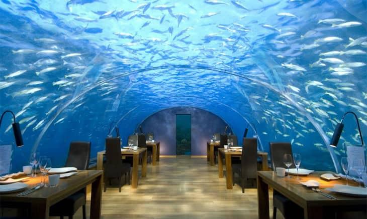 Restaurang under vatten