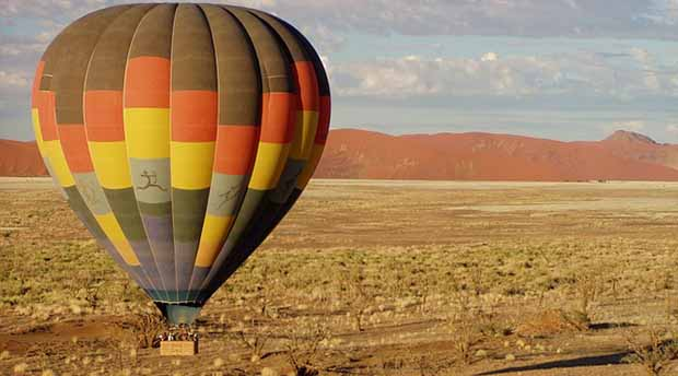 Luftballong namib desert