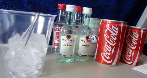 Alkohol på flygplan