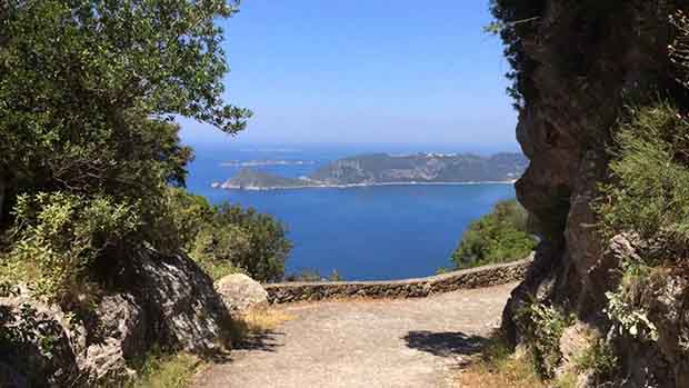 Korfu's vandringsled