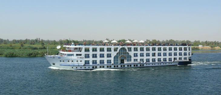 båttur längs Nilen