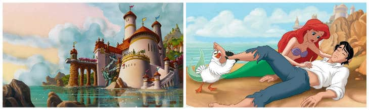 den lilla sjöjungfrun slott