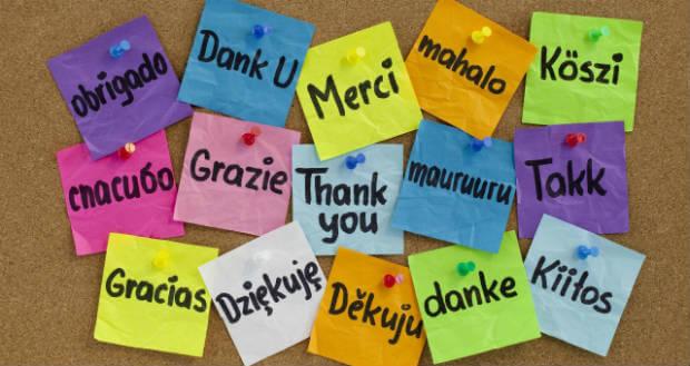 Tack på flera språk