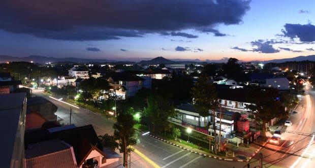 Chiang Rai nattfoto