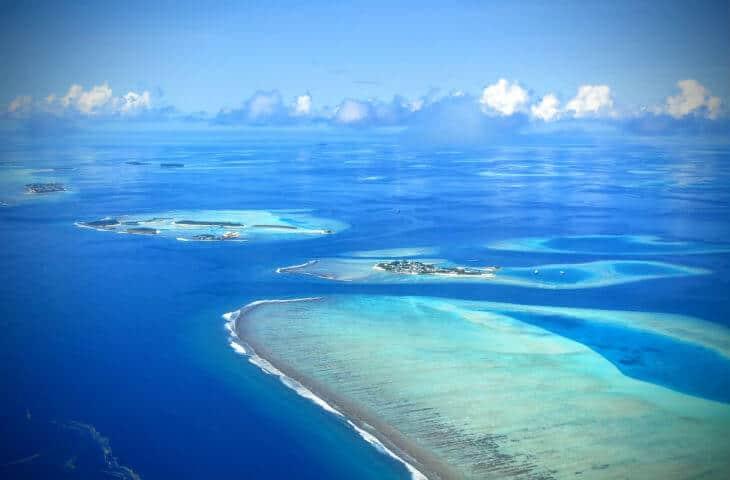 Maldiverna flygfoto