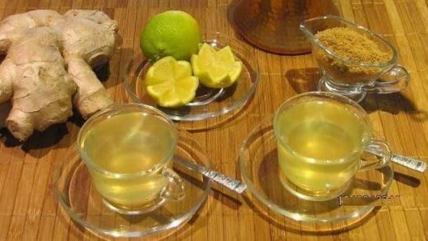 ingefära te - bra vid magsjuka