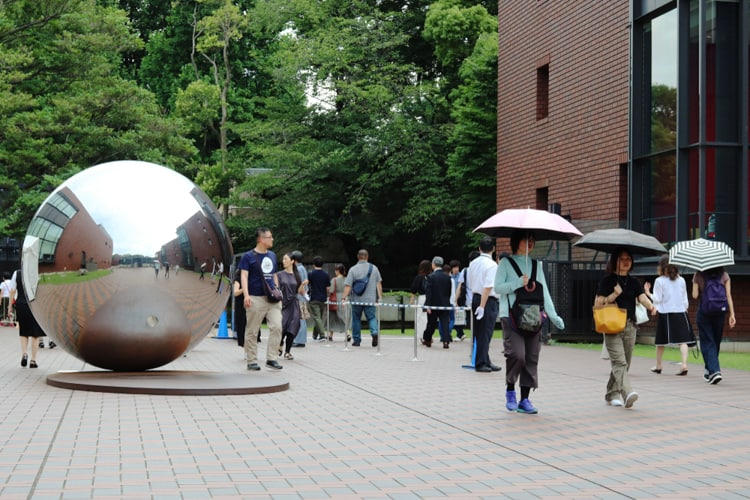 tourists visiting tokyo museum