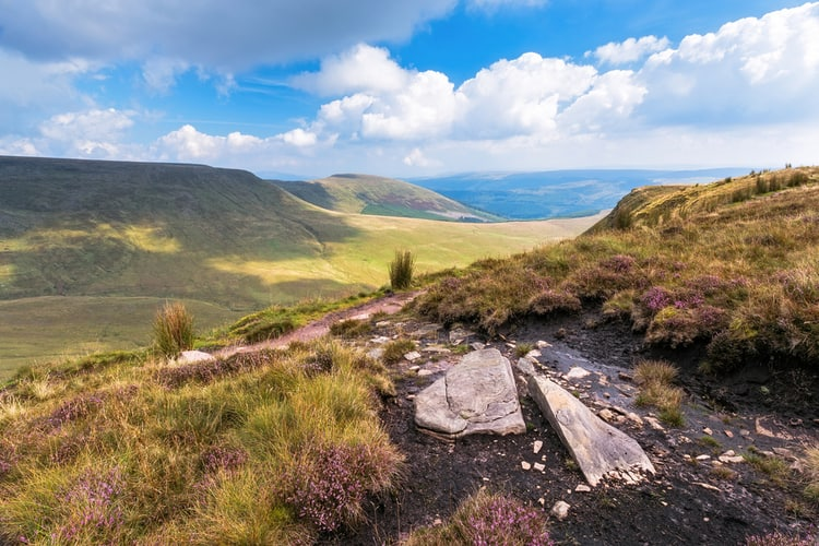 Brecon Beacons national park in the UK