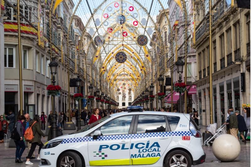 Polisbil i malaga